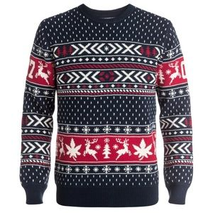 🌵3/$20 Men's Ugly Christmas Sweater DC Blue Red